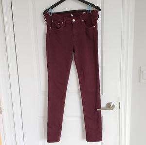 Rag & Bone Burgundy Jeans